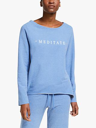 M Life Nirvana Meditate Sweat Yoga Top, Light Navy