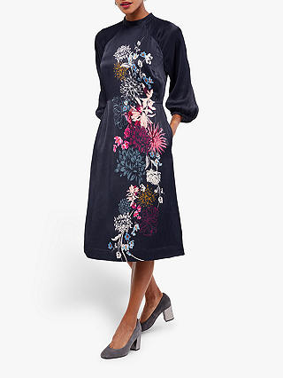 Buy White Stuff Camellia Dress, Navy Print, 6 Online at johnlewis.com
