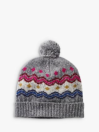 White Stuff Fair Isle Hat, Snow Grey