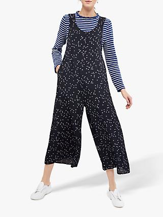 White Stuff Star Moss Crepe Dunagrees, Navy