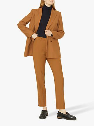 Jigsaw Straight Leg Trousers, Toffee