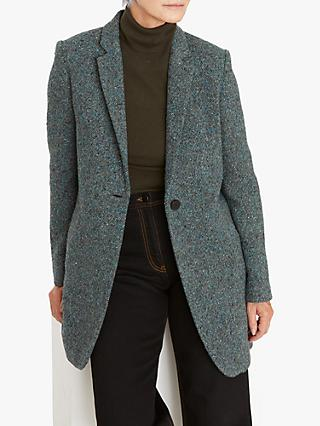 Jigsaw Welt Pocket Coat, Seafoam Green