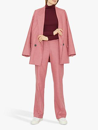 Jigsaw Flannel Trousers, Azalea