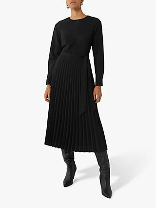 Warehouse Long Pleated Midi