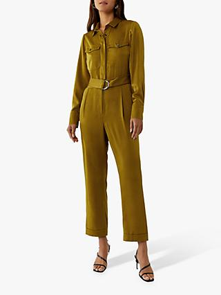 Warehouse Satin Utility Boiler Suit, Yellow