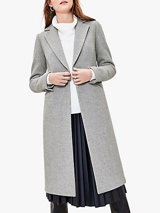 Oasis Premium Long Coat, Mid Grey