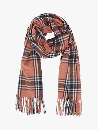 Oasis Super Soft Check Scarf, Orange