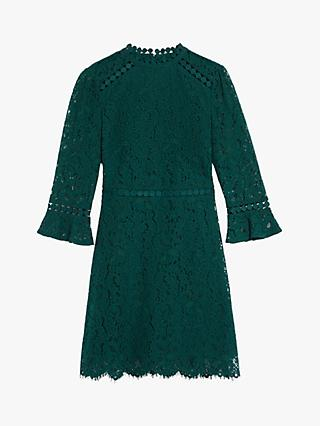 Oasis Funnel Neck Lace Shift Dress
