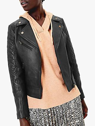 Oasis Premium Leather Biker Jacket