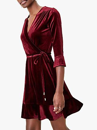 Oasis Velvet Wrap Tea Dress