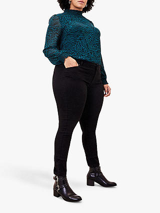 Buy Oasis Curve Jade Stretch Skinny Jeans, Black, 18 Online at johnlewis.com