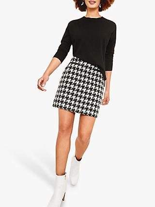 Oasis Dogtooth Mini Skirt, Multi