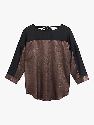 Oasis Hammered Satin Top, Bronze