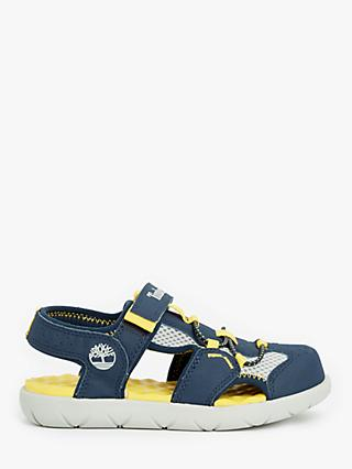 Timberland Children's Perkins Row Fisherman Sandals, Navy/Yellow