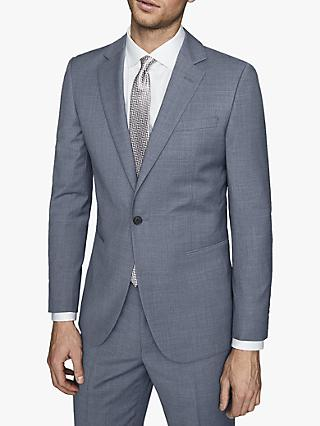 Reiss Climate Wool Modern Fit Blazer, Airforce Blue