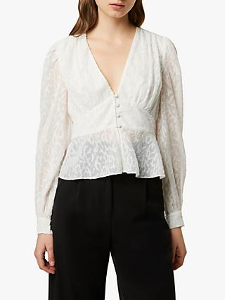 French Connection Brenna Blouse, Winter White