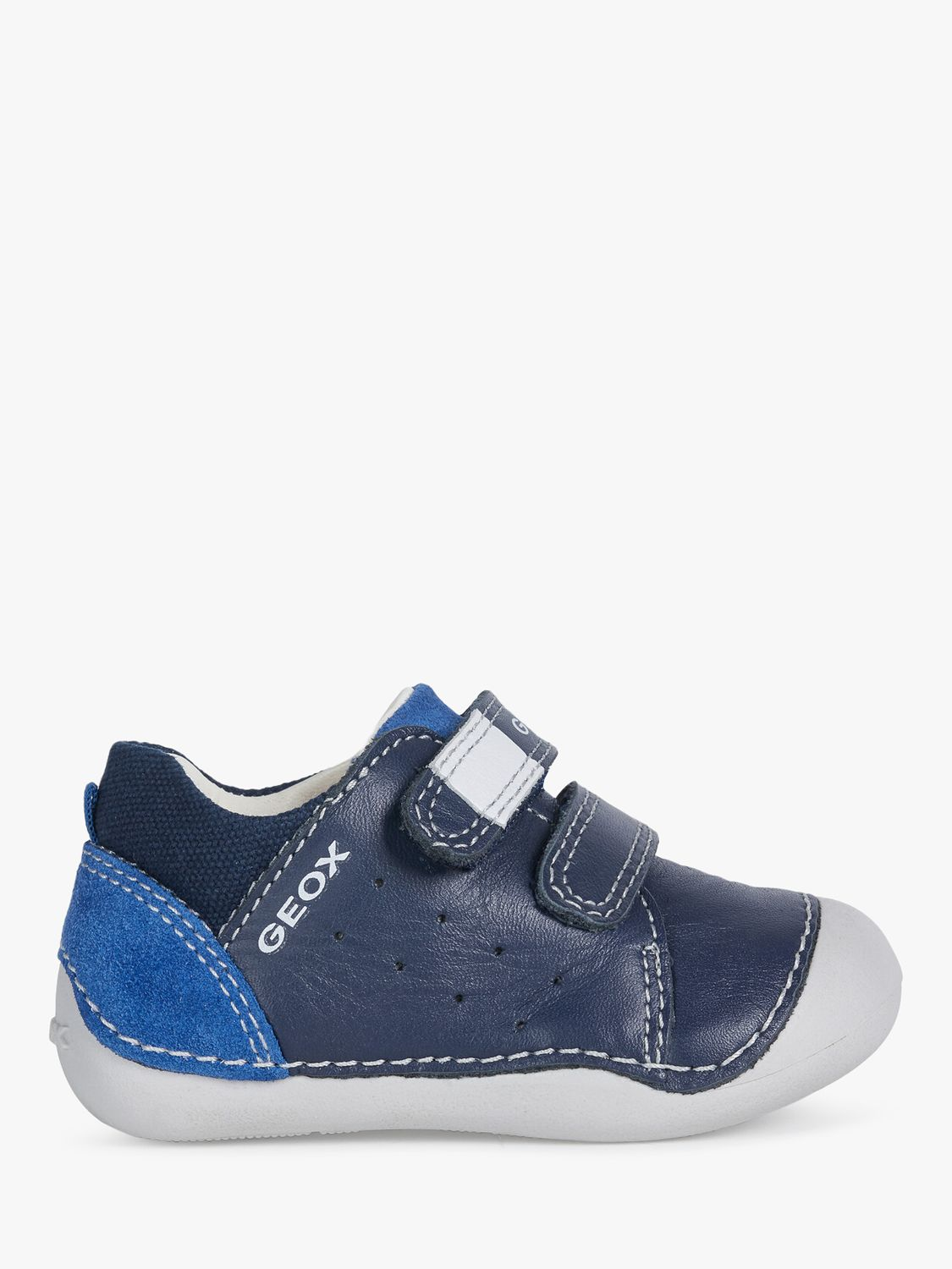 Geox Geox Junior Tutim Riptape Trainers, Navy/Royal