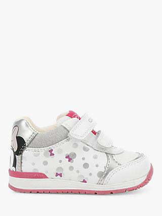 Geox Junior Rishon Riptape Trainers, White