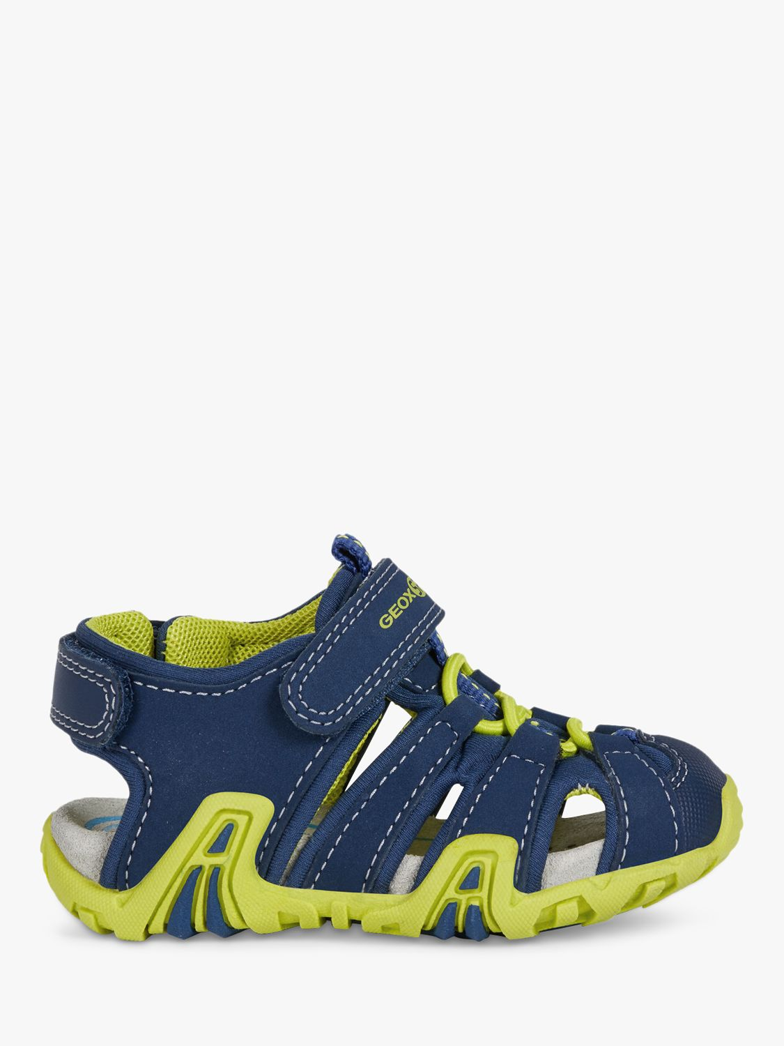 Geox Geox Junior Kraze Riptape Sandals, Navy/Lime