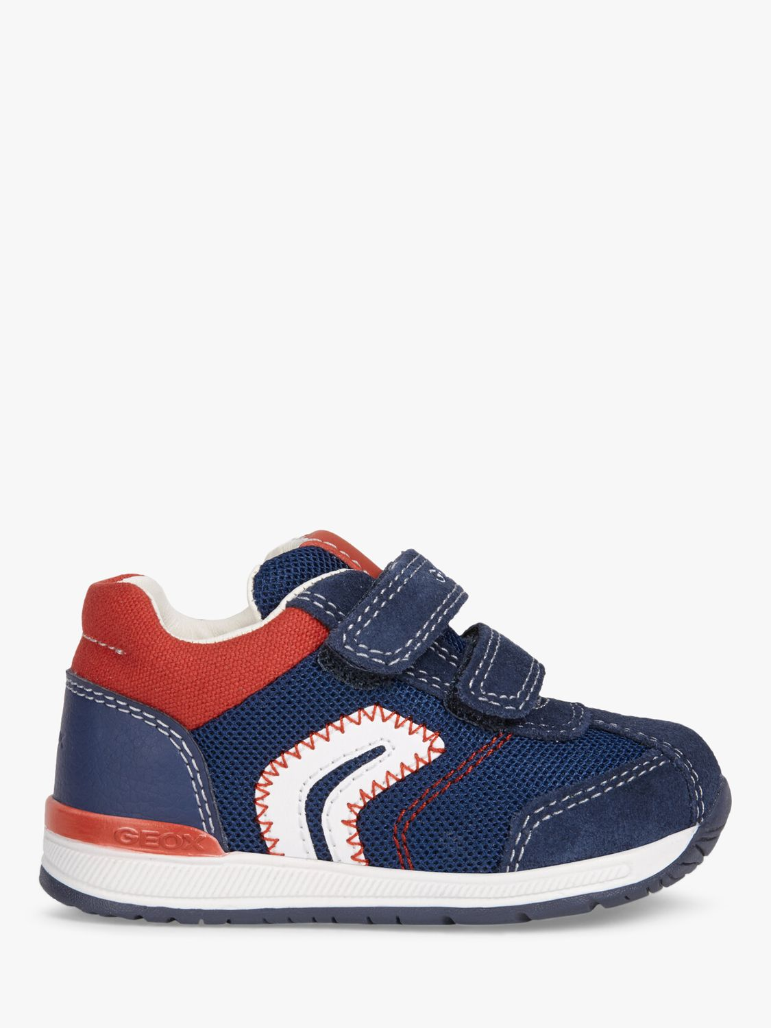 Geox Geox Junior Rishon Riptape Trainers, Navy