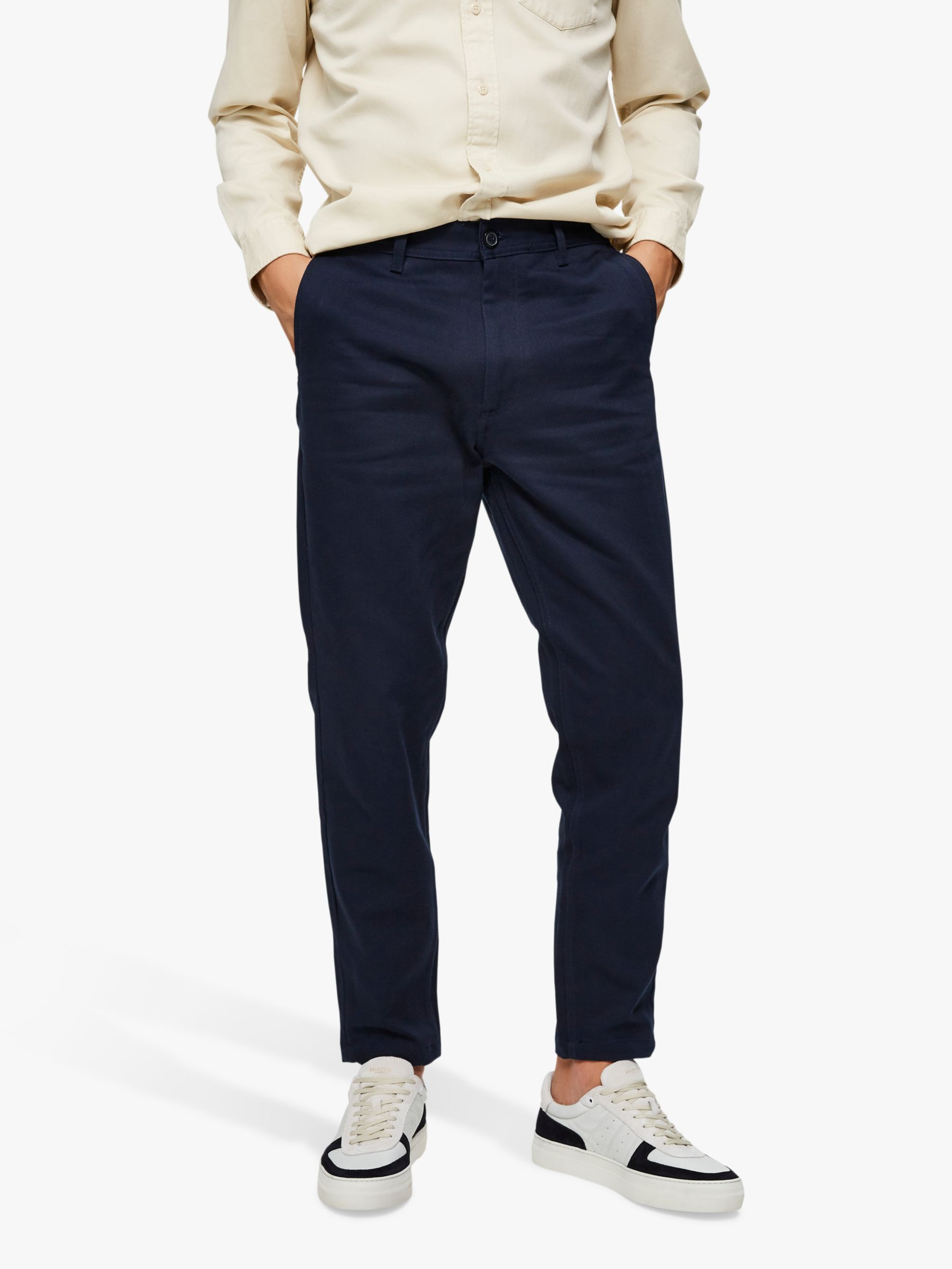 Selected Homme SELECTED HOMME Twill Slim Fit Trousers, Sky Captain