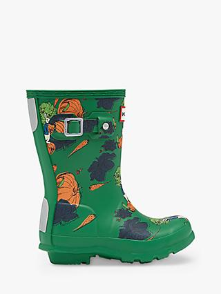 Hunter x Peter Rabbit 2 Children's Original Waterproof Wellington Boots, Dark Green