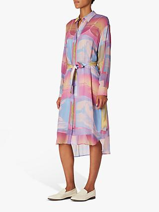 PS Paul Smith Long Sleeve Print Shirt Dress, Multi