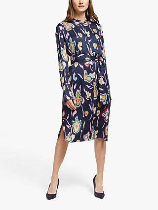 PS Paul Smith Printed Shirt Dress, Dark Navy