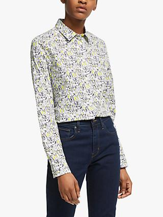 PS Paul Smith Floral Rabbit Print Shirt, Off White