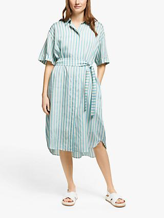 PS Paul Smith Stripe Shirt Dress, Light Blue