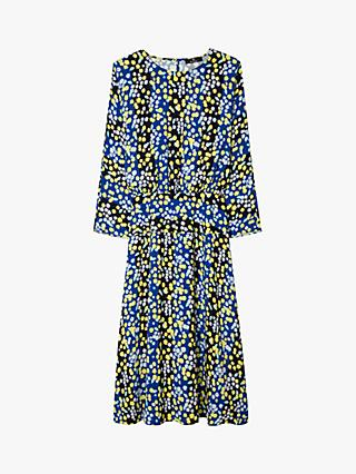 PS Paul Smith Floral Print Dress, Cobalt/Multi
