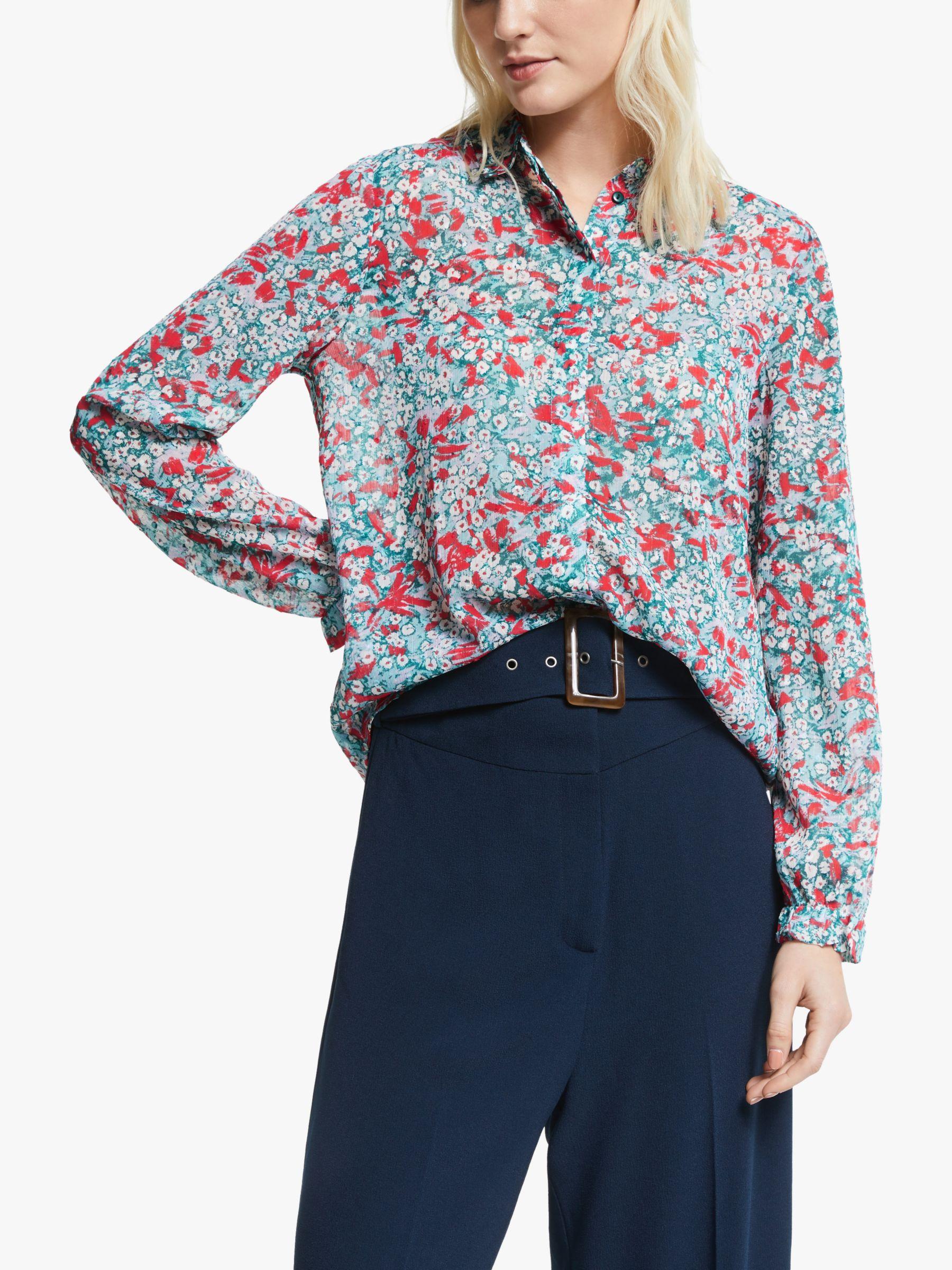 Numph Numph Aphra Floral Printed Shirt, Pondarosa