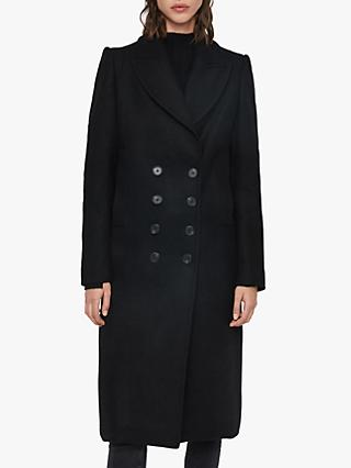 AllSaints Blair Shadow Coat, Black
