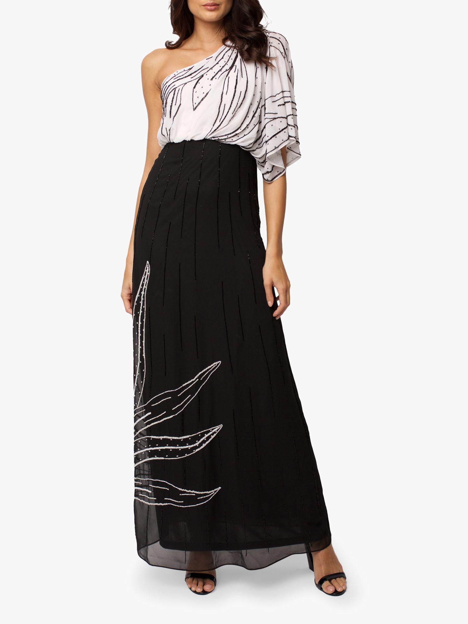 RAISHMA Raishma Meghan Monocharome Gown, Black/White