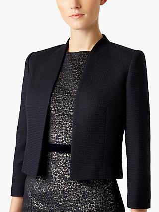 Hobbs Emily Cropped Jacket, Navy