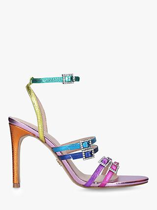 Kurt Geiger London Pierra Rainbow Stiletto Heel Strappy Sandals, Multi