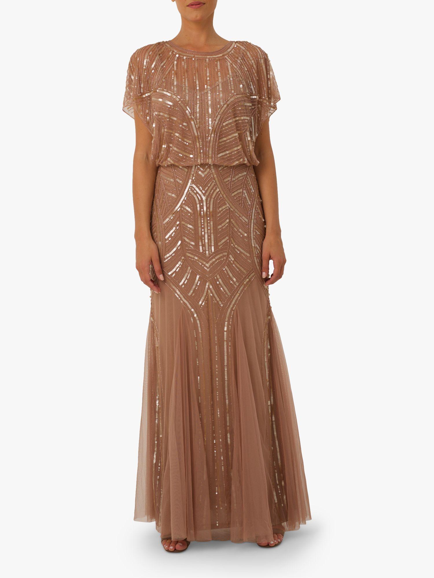 RAISHMA Raishma Rose Embellished Gown, Blush
