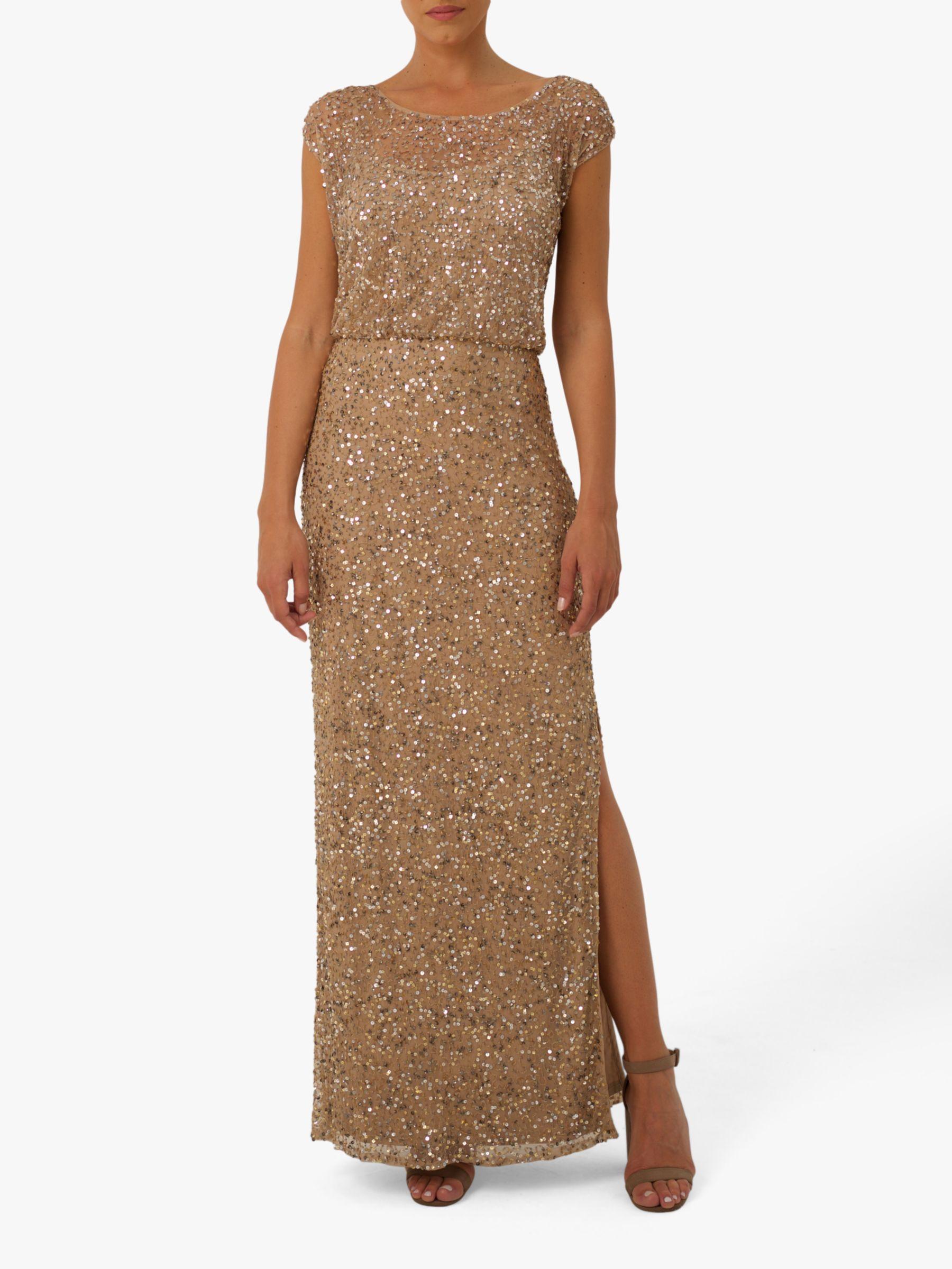 RAISHMA Raishma Marilyn Embellished Gown, Gold