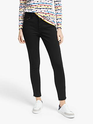 Boden Biker Super Skinny Jeans, Washed Black