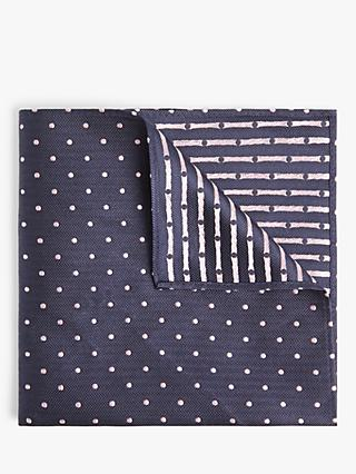 John Lewis & Partners Spot Silk Pocket Square