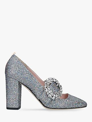 SJP by Sarah Jessica Parker Celine Block Heel Court Shoes, Silver