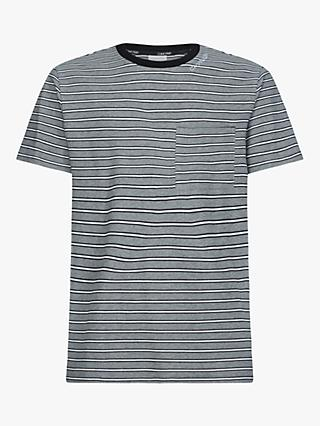 Calvin Klein Texture Multi Stripe T-Shirt, Grey