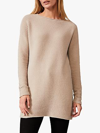 Phase Eight Rachel Ripple Knit Tunic, Natural