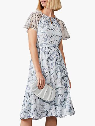 Phase Eight Marlene Floral Flared Dress, Mineral