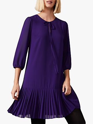 Phase Eight Maisie Pleat Dress, Purple