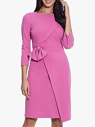 Adrianna Papell Bow Waist Dress, Raspberry Pink