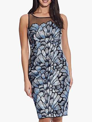Adrianna Papell Embellished Floral Pencil Dress, Multi