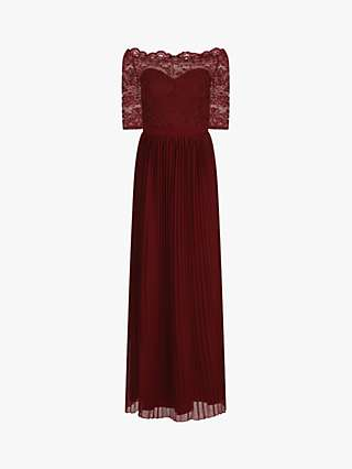 Chi Chi London Curve Suze Dress, Burgundy