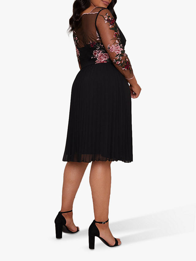 Chi chi london black long sleeve bodycon dress
