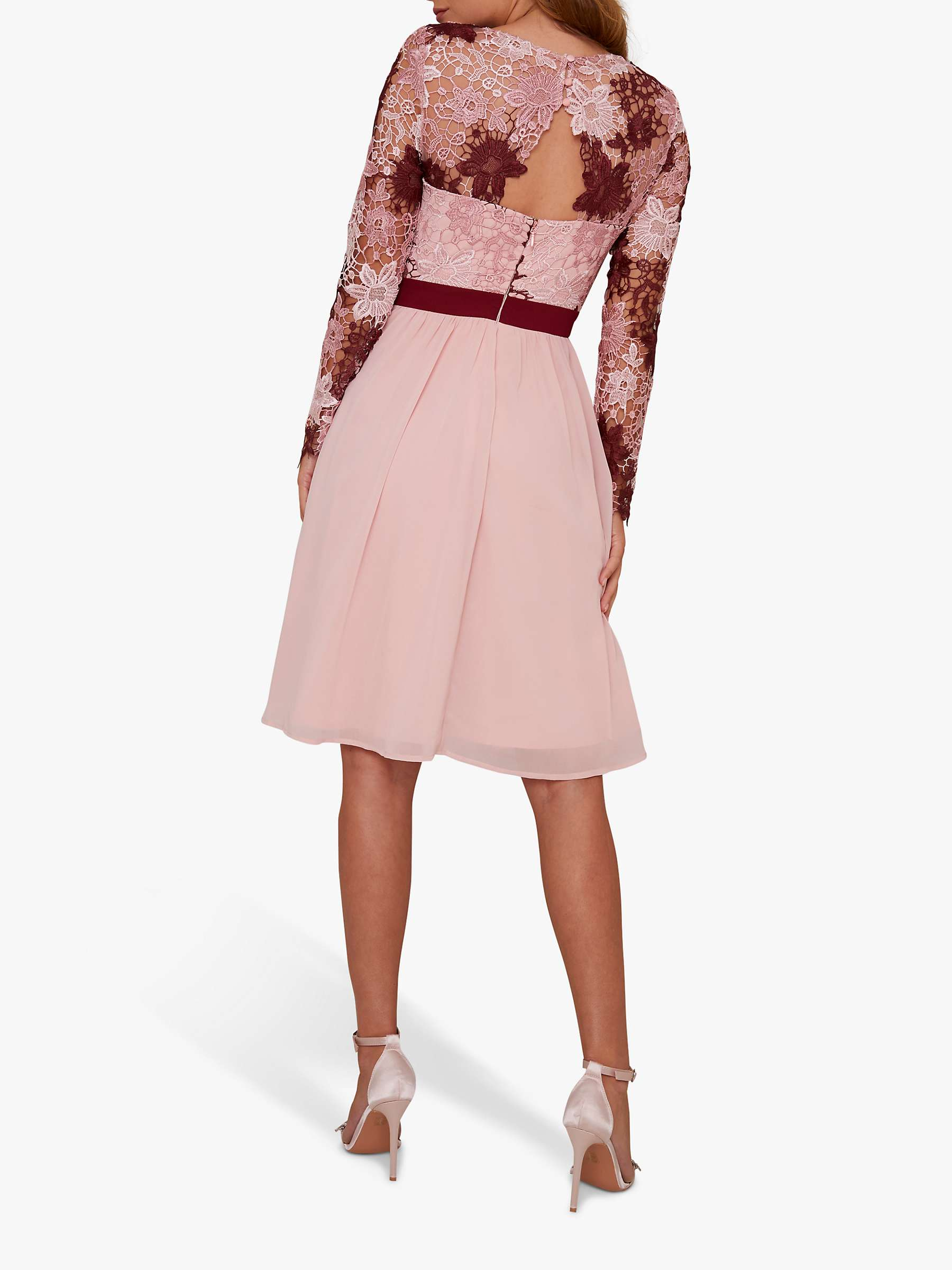 Chi Chi London Sutton Floral Dress Pink Multi At John Lewis Partners